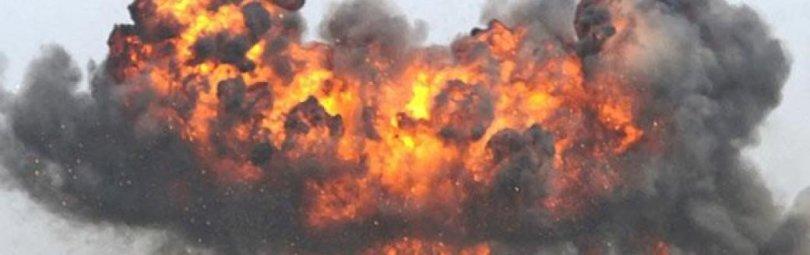 Взрыв на украинских позициях