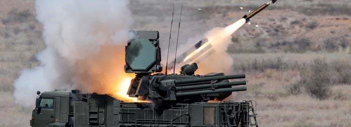 Запуск ракеты «Панциря»