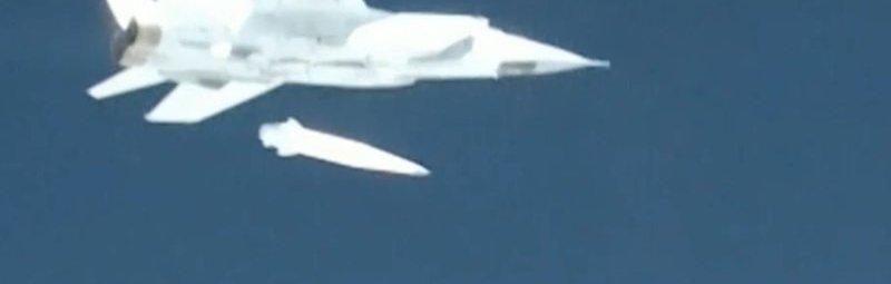 Запуск ракеты «Кинжал»