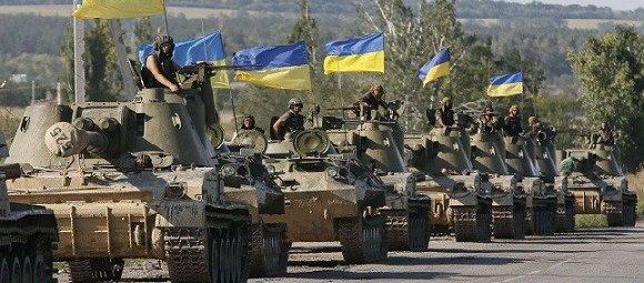 Украинская танковая колонна