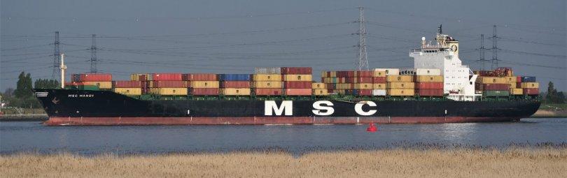 Корабль MSC Mandy